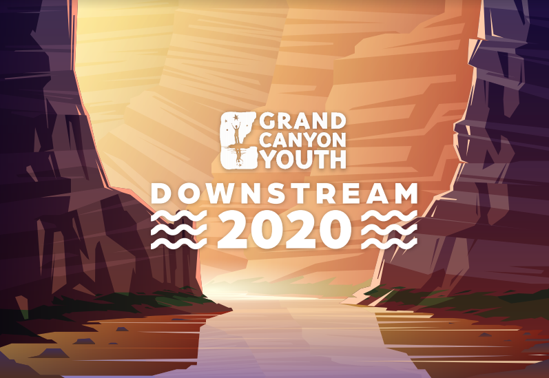 Downstream 2020 poster for Grand Canyon Youth